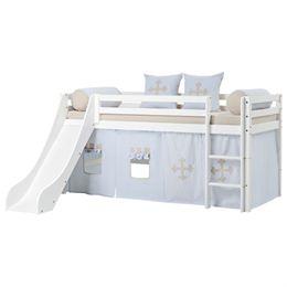 Hoppekids halvhøj seng med rutsjebane - Basic - Fairytale Knight