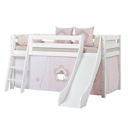 Hoppekids halvhøj seng med rutsjebane - Premium - Fairytale Flower
