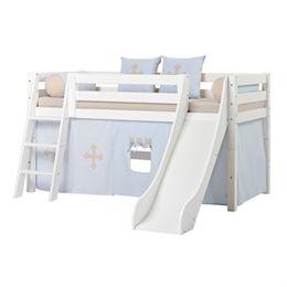 Hoppekids halvhøj seng med rutsjebane - Premium - Fairytale Knight