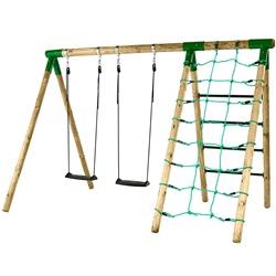 Hörby Bruk Træ Active Gyngestativ med klatrevæg