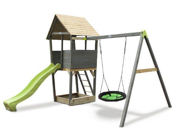 Aksent Legetårn m. 1 nest-gynge - EXIT Udendørsleg 468324