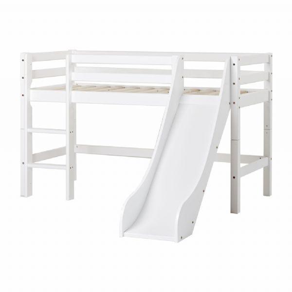 Halvhøj seng m/rutsjebane 70x160 cm - Hoppekids Sengestel 109915