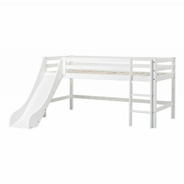 Halvhøj seng m/rutsjebane 90x200 cm - Hoppekids sengestel 109917
